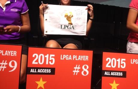 Watch the LPGA card cermony